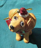 CLEARANCE..Cutie GOLDEN RETRIEVER Silly Dog Breed Resin Xmas Ornament
