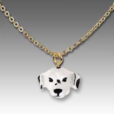 CLEARANCE Dog on Chain DALMATIAN Resin Dog Necklace Jewelry Pendant