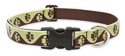 "Lupine 1"" wide MUD PUPPY Adjustable Dog Collar Size 12-20"" RETIRED PATTERN"