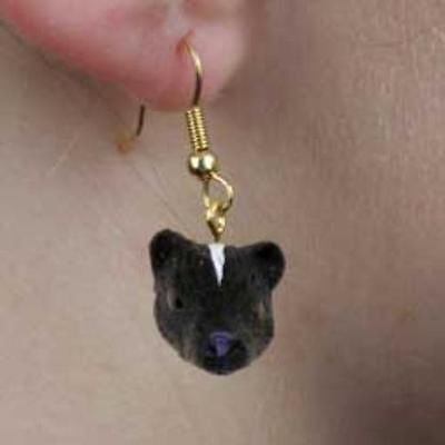 CLEARANCE..Animal Wildlife SKUNK Head Resin Dangle Earrings