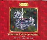 Breyer Horse 2008 SILVERBELLE Blown Glass Holiday Ornament 2nd in Series PRICE REDUCED