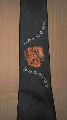 Mens Necktie DACHSHUND RED HEAD Dog Breed Mens Accessory Polyester Tie
