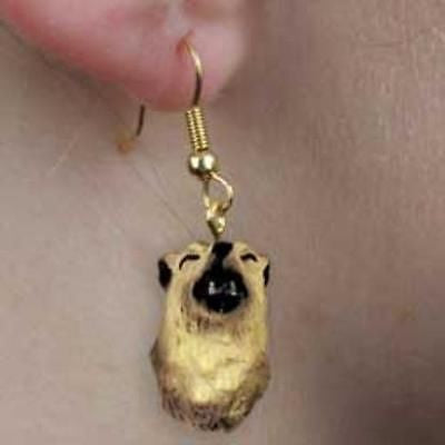 CLEARANCE..Animal Wildlife TIMBER WOLF Head Resin Dangle Earrings