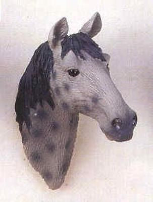 CLEARANCE...Frig Magnet Horse Head DAPPLE GRAY Resin Magnet