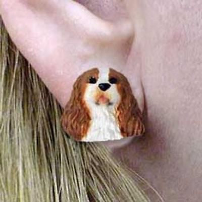 CLEARANCE Post Style CAVALIER KING CHARLES RED Dog Head Post Earrings Jewelry