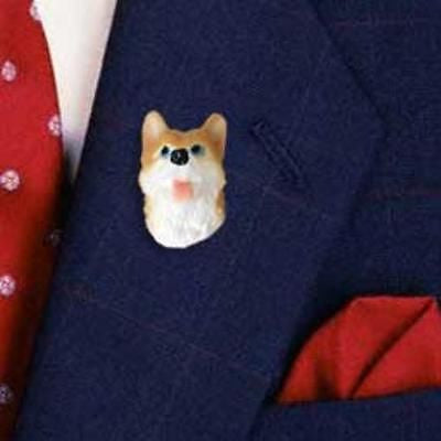 CLEARANCE Resin Pin SIBERIAN HUSKY RED Dog Head Hat Pin Tietac Pin Jewelry