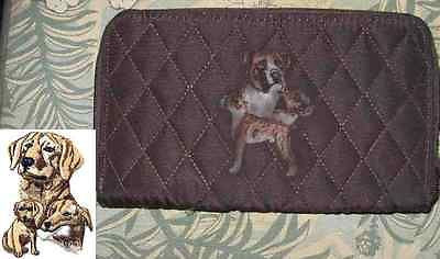 Belvah Quilted Fabric LAB RETRIEVER YELLOW Dog Breed Zip Around Ladies Wallet