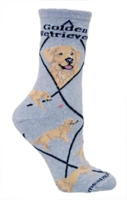 Adult Size Medium GOLDEN RETRIEVER Adult Socks/Grey Made in USA