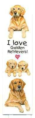Nice Dog Breed GOLDEN RETRIEVER Pet Laminated Paper Bookmark set of 2
