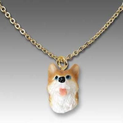 Dog on Chain SIBERIAN HUSKY RED Resin Dog Head Necklace Jewelry Pendant
