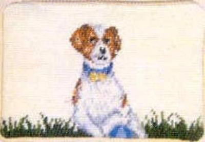 9e804a052649 CLEARANCE..JACK RUSSELL Dog Breed Needlepoint Cosmetic Bag Zippered Pouch