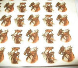 "Ceramic Decal Antique Look HORSE HEADS 3/4"" Decal 46 pieces"