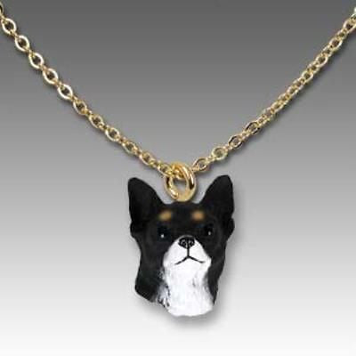CLEARANCE Dog on Chain CHIHUAHUA BLACK Resin Dog Necklace Jewelry Pendant