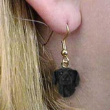 CLEARANCE Dangle Style FLAT-COAT RETRIEVER Dog Head Earrings Jewelry