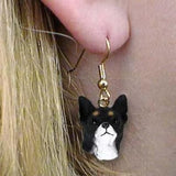 Dangle Style CHIHUAHUA BLACK Dog Head Resin Earrings Jewelry CLEARANCE