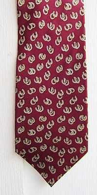 CLEARANCE...Quality Museum Artifacts HORSE SHOE Maroon Color Mens Silk Necktie