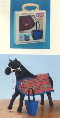 CLEARANCE..Myrtlewood Stable Toy Horse Blanket Halter Bucket Accessory Set