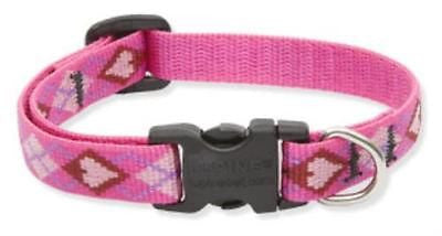 "Lupine 1/2"" wide PUPPY LOVE Adjustable Nylon Dog Collar size 6-9"""