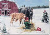 Xmas Cards A Tasty Treat for MARE & FOAL Holiday Cards 10 per box