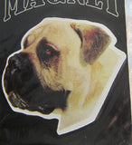 Car Magnet Die-cut BULL MASTIFF Dog Breed discontinued