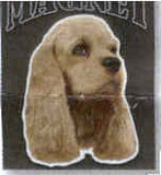 Car Magnet Die-cut COCKER SPANIEL Dog Breed discontinued CLEARANCE
