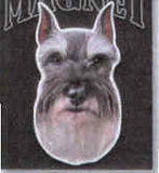 Car Magnet Die-cut SCHNAUZER Dog Breed discontinued CLEARANCE