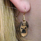 CLEARANCE Dangle Style GREAT DANE FAWN Dog Head Earrings Jewelry