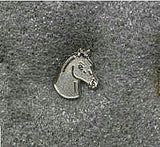 Collectible Pin HORSE HEAD PONY SILVER Hat Pin Tietac Enamel Metal