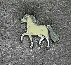 Collectible Pin HORSE PRANCING PONY Gray Hat Pin Tietac Enamel Metal