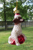 Glass Ornament GERMAN SHORTHAIR w/Holiday Bulb Dog Christmas Retired