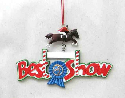 CLEARANCE...BEST OF SHOW Horse Jumper Christmas Ornament