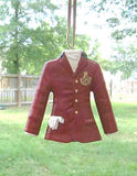 CLEARANCE...ENGLISH RIDING JACKET Red Resin Christmas Ornament