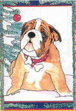 Ten Cards Pack BULLDOG Dog Breed Christmas Cards USA made