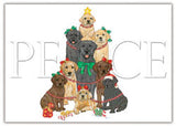 Ten Cards Pack LABRADOR RETRIEVER Peace Dog Breed Christmas Cards USA made