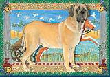 Ten Cards Pack MASTIFF Dog Breed Christmas Cards USA made