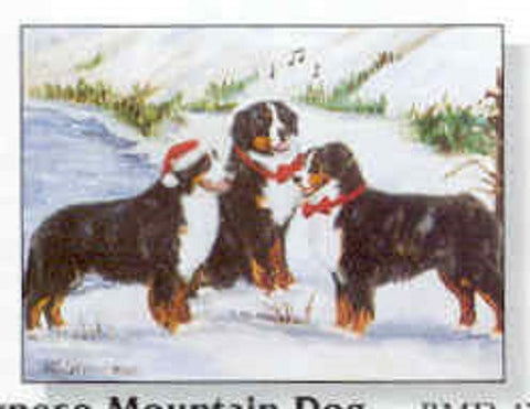 Eight Card Pack Bernese Mountain Dog Breed Christmas Cards Dog
