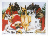 Eight Card Pack GREAT DANE Dog Breed Christmas Cards