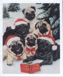 Eight Card Pack PUG CHOIR Dog Breed Christmas Cards