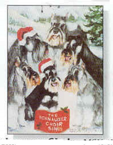 Eight Card Pack SCHNAUZER Dog Breed Christmas Cards