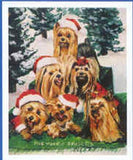 Eight Card Pack YORKSHIRE TERRIER Dog Breed Christmas Cards