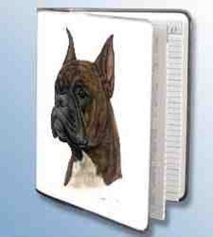 Retired Dog Breed BOXER BRINDLE Vinyl Softcover Address Book by Robert May