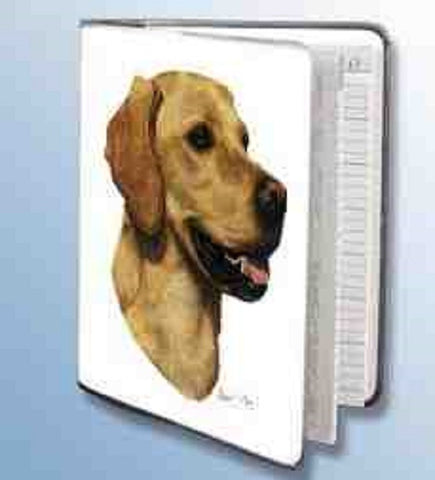 Retired Dog Breed LAB RETRIEVER YELLOW Vinyl Softcover Address Book by Robert May