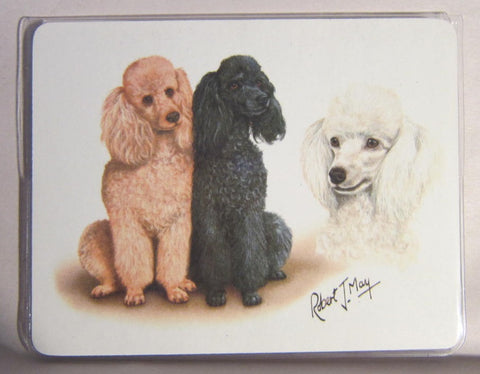 Retired Dog Breed POODLE TRIO Vinyl Softcover Address Book by Robert May