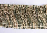 "Decorative Olive Green/Tan Mix Fringe Trim 2 1/2"" wide 3 YRDS CLEARANCE SALE"