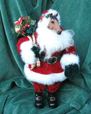 Horse Holiday Large Standing HORSE Santa w/Sack & Package 12""