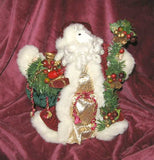 Horse Holiday Santa WHITE HORSE Red Suit Christmas Treetopper Santa 10""