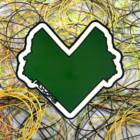 Heart of Montana Sticker