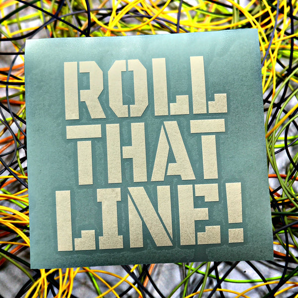 Roll That Line Die Cut Decal