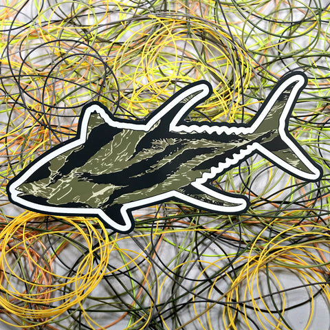 """Tiger Stripe Tuna"" Sticker"