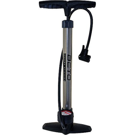 Beto Premium Track Pump with Gauge For MTB & Road Bikes